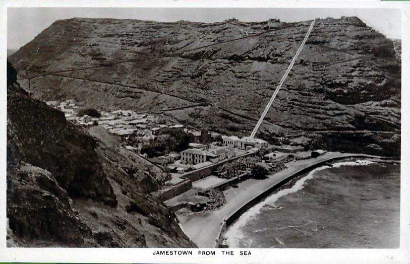 Lower Jamestown from Munden's prob. early 20th C Saint Helena Island Info Postcards of St Helena