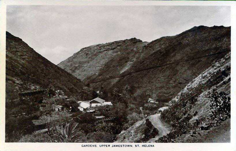Upper Jamestown from Barnes Road (?) prob. early 20th C Saint Helena Island Info Postcards of St Helena