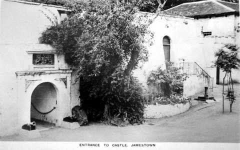 Entrance to The Castle, prob. early 20th C; very little has changed!