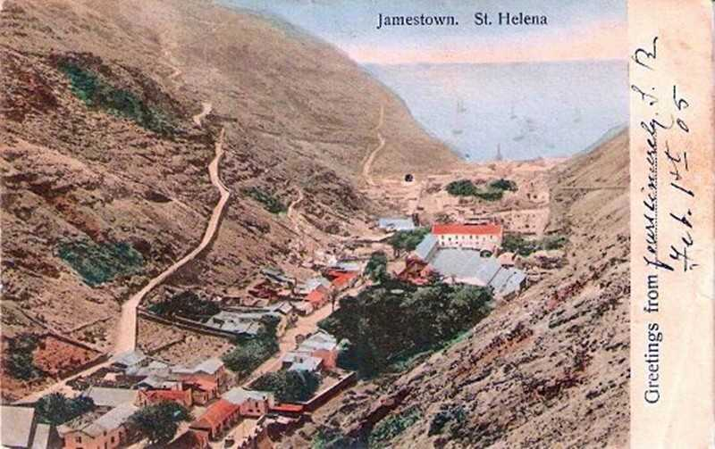 Jamestown 1905 by Thomas Jackson Saint Helena Island Info Postcards of St Helena