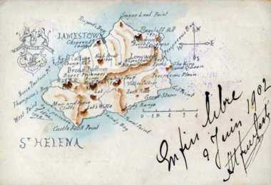 1902 postcard/map of camp sites