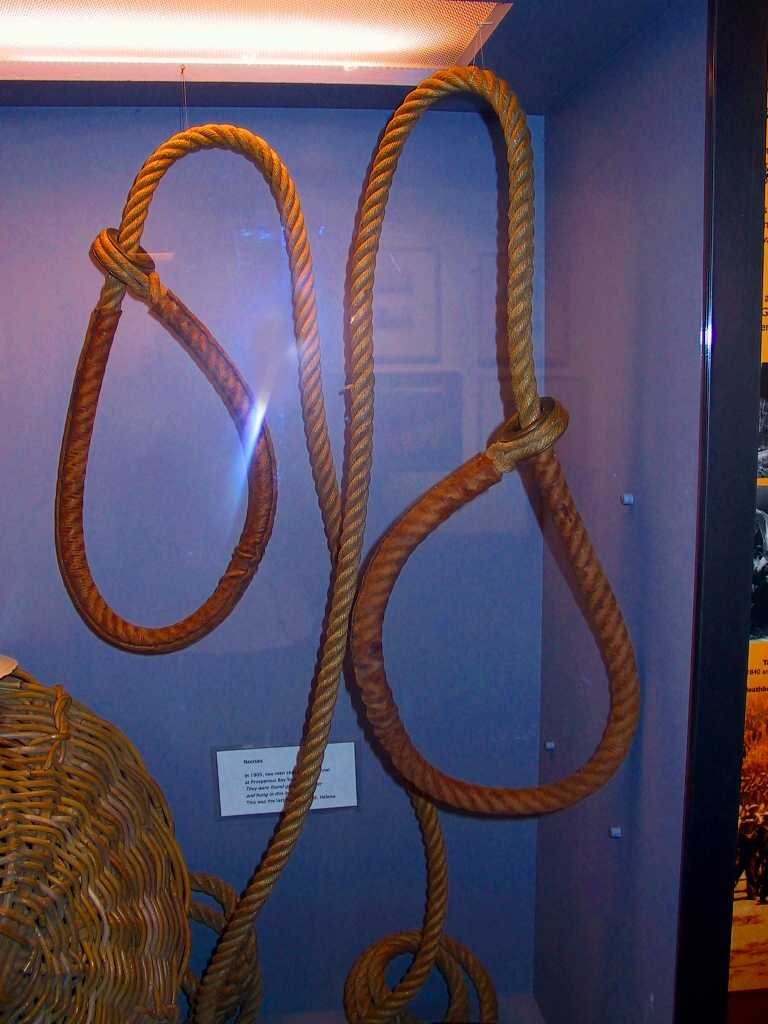 Actual nooses, in the Museum of St Helena [Saint Helena Island Info:Other Military Sites]
