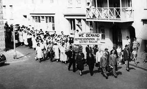ProtestMarch Jamestown 1950s/60s Saint Helena Island Info Historic Images