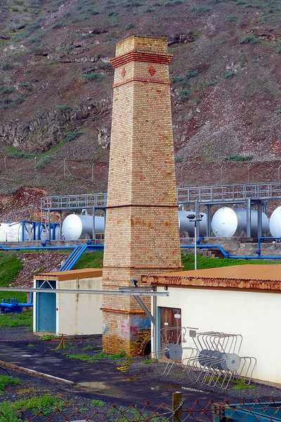 Desalination Plant chimney [Saint Helena Island Info:Our (Other) Railway]