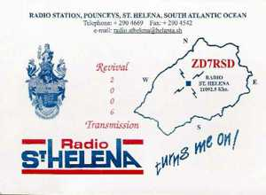 2006 Radio St Helena Day QSL Card