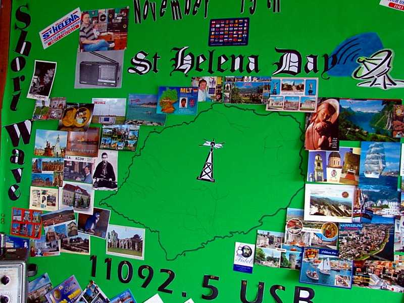 Display board Saint Helena Island Info Radio St Helena