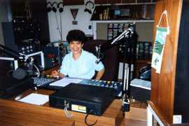 Joy Lawrence on air, 1993