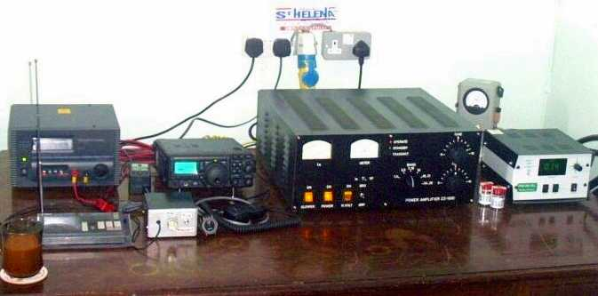TX (mid. left) & 1Kw Power Amp. (mid. right) Saint Helena Island Info Radio St Helena