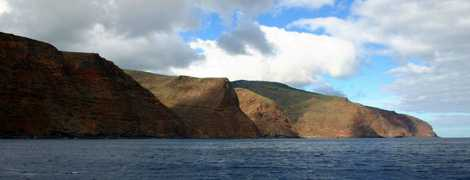Rugged scenery is a feature of St Helena