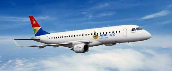 SA Airlink aircraft Saint Helena Island Info Building St Helena Airport