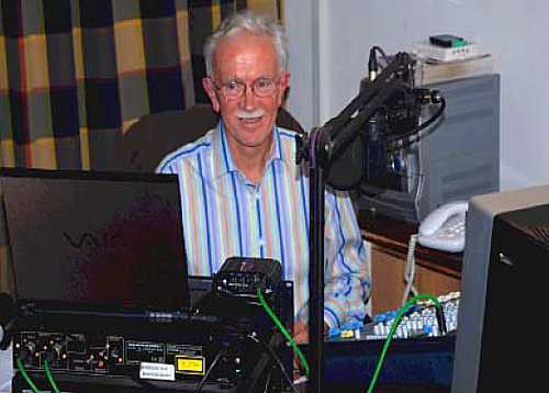 Governor Andrew Gurr, on air at Christmas 2007 [Saint Helena Island Info:Saint FM (2004-2012)]