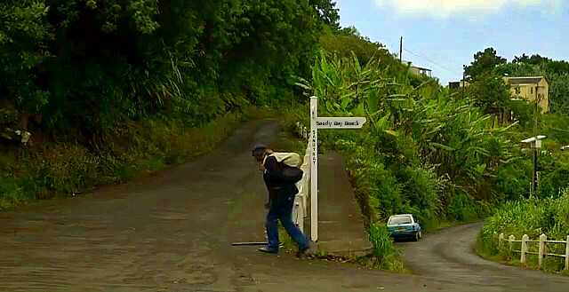 The road (down) to Sandy Bay Saint Helena Island Info