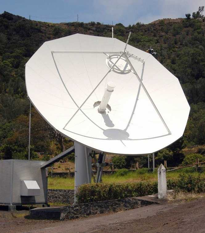 satellite ground station dish [Saint Helena Island Info:Communications]