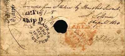 Letter forwarded by Saul Solomon, 1834