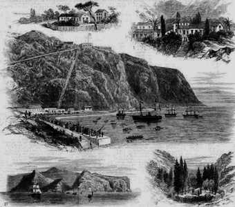 Postcard: Scenes of St Helena, Dated as 1880.