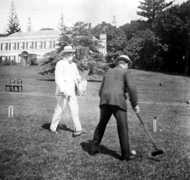 Croquet on the Plantation House lawn
