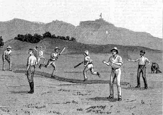 Cricket on Francis Plain 1886 Saint Helena Island Info Sport in St Helena