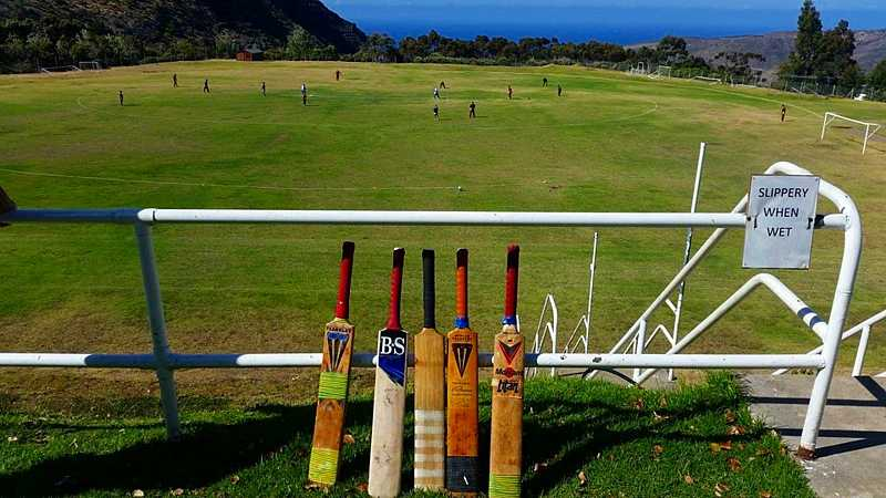 Cricket on Francis Plain Saint Helena Island Info Sport in St Helena