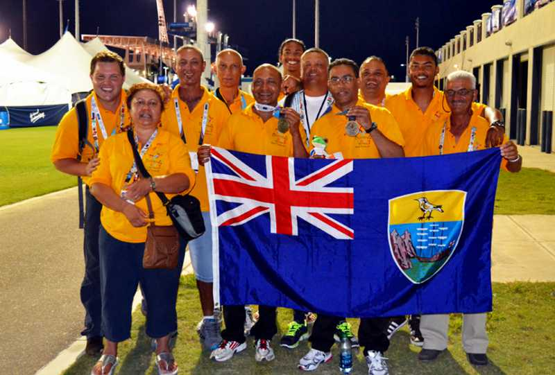 The St Helena 2013 Island Games team Saint Helena Island Info Sport in St Helena