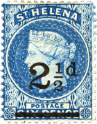 6d Blue o/p for 2½d