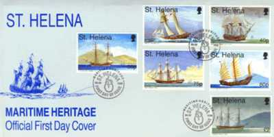 First Day Cover Maritime Heritage Saint Helena Island Info Postage Stamps