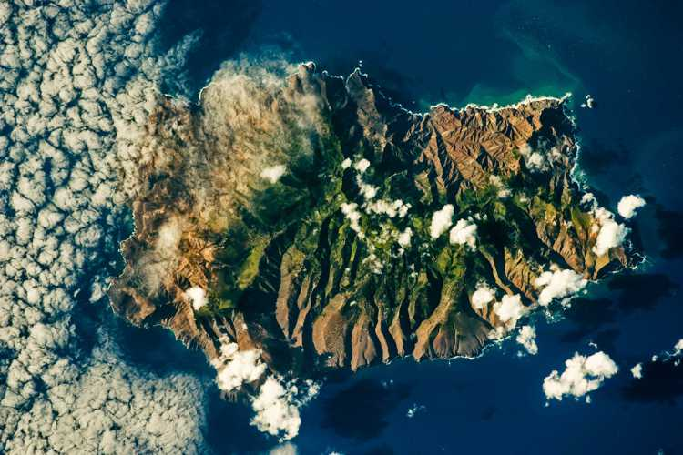 St Helena from space