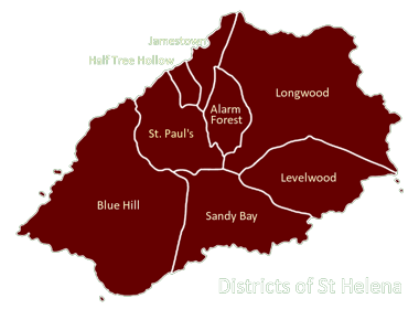 Districts of St Helena