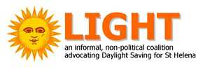 'LIGHT' coalition logo [Saint Helena Island Info:Time]