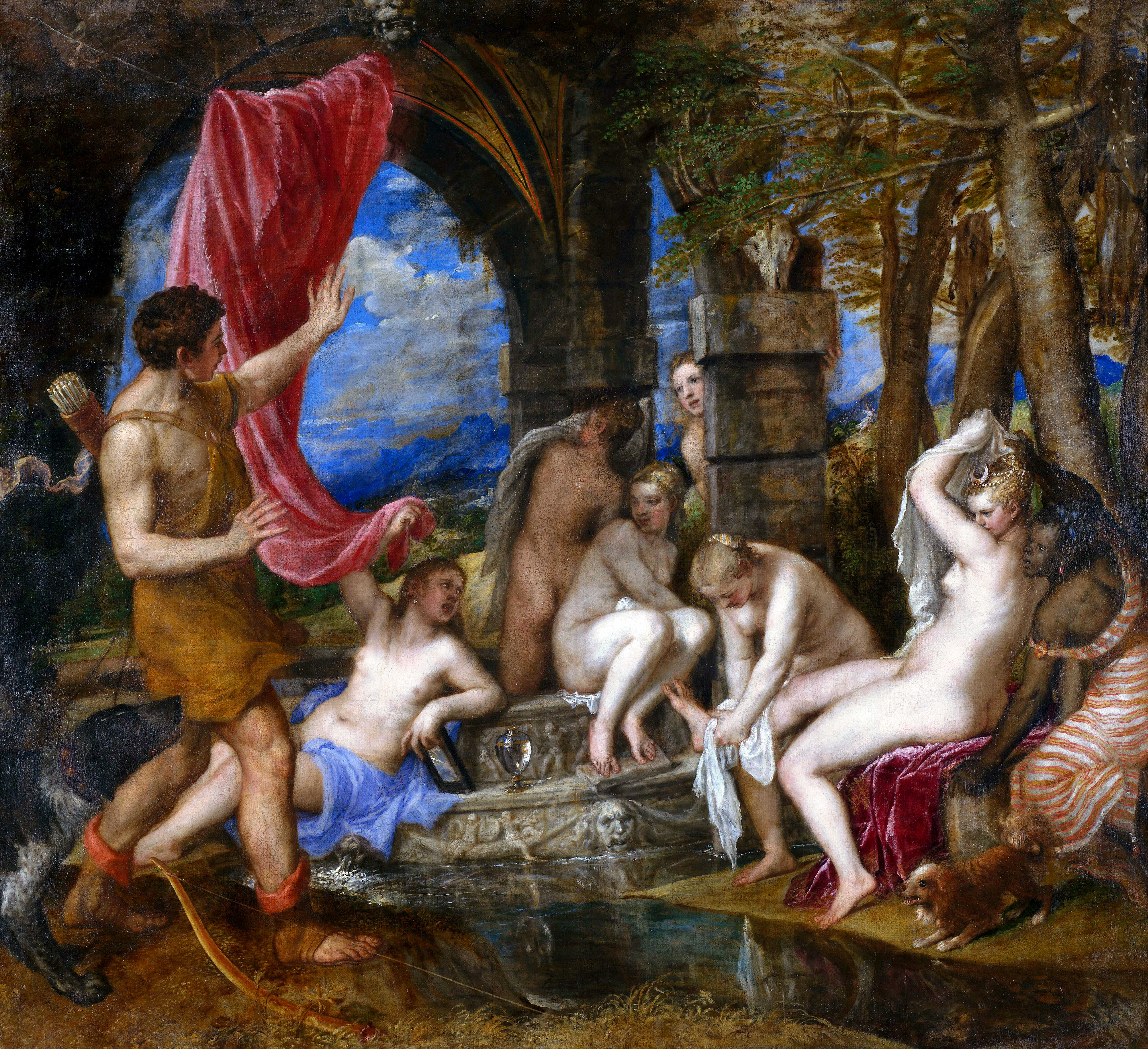 Diana Actaeon, by Titian, 1550s {2}