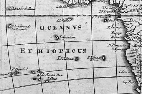 1709 Herman Moll London Saint Helena Island Info Two St Helenas?