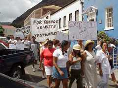 SHELCO protest 2003 01 Saint Helena Island Info Unrest and Rebellion