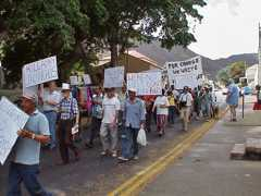 SHELCO protest 2003 02 Saint Helena Island Info Unrest and Rebellion