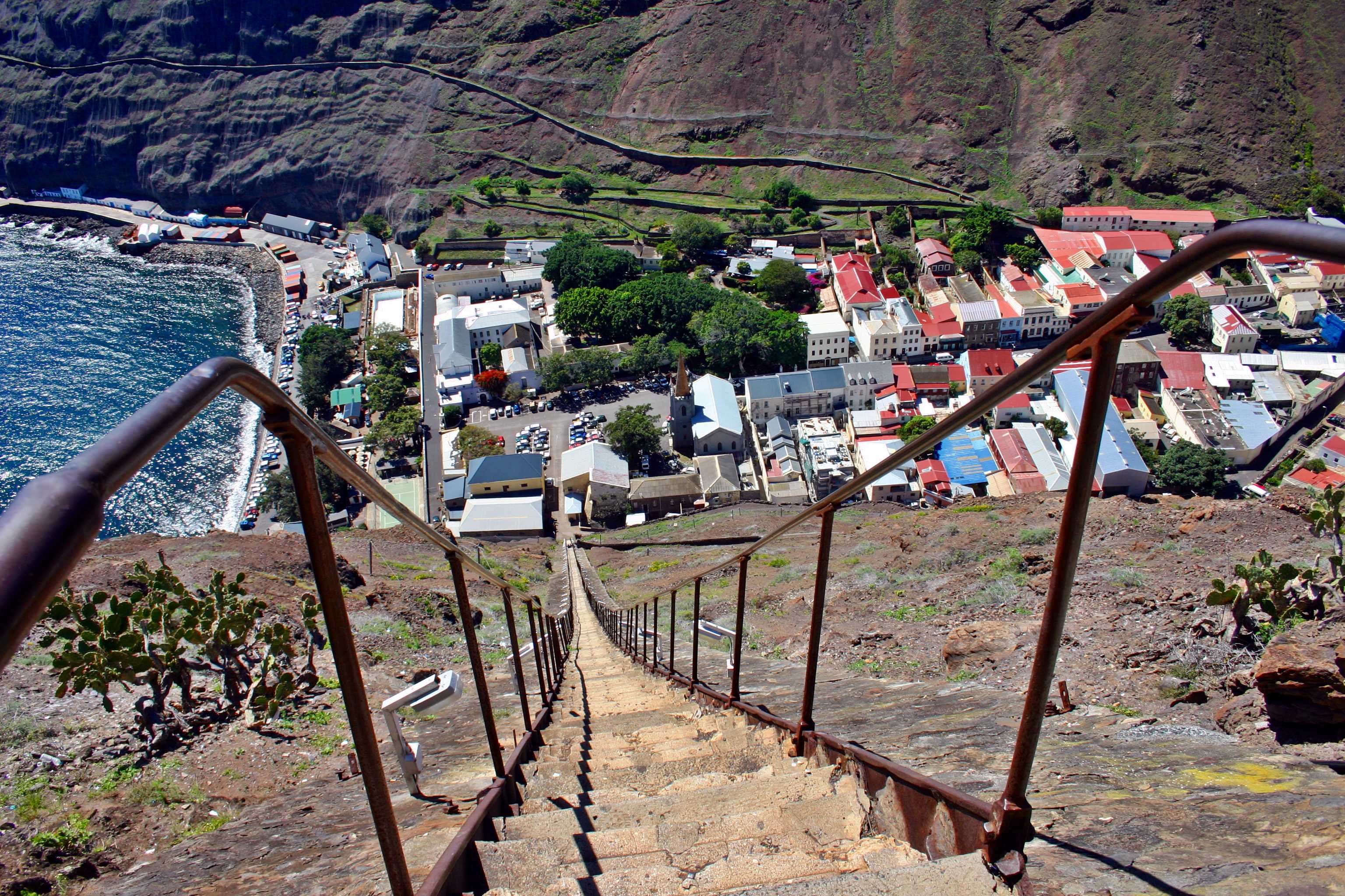Jacob's Ladder Saint Helena Island Info Seven Wonders of St Helena
