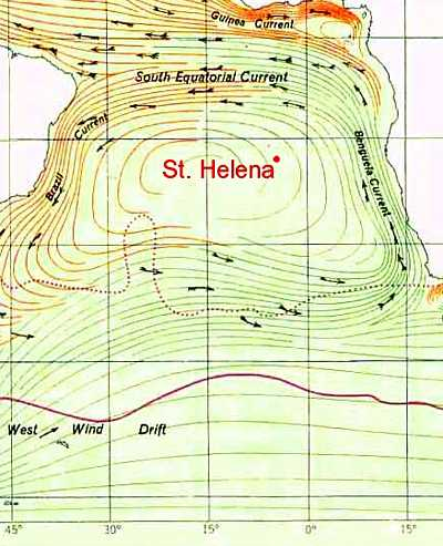 Sea currents Saint Helena Island Info Yachting
