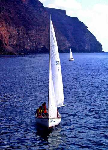 Yachting off St Helena