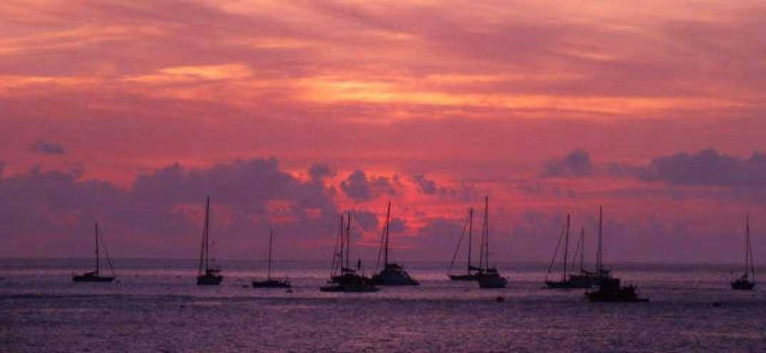 Yachts in James' Bay after Governor's Cup 2012 Saint Helena Island Info Yachting