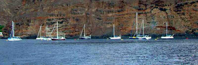 Yachts at the moorings Saint Helena Island Info Picture Gallery