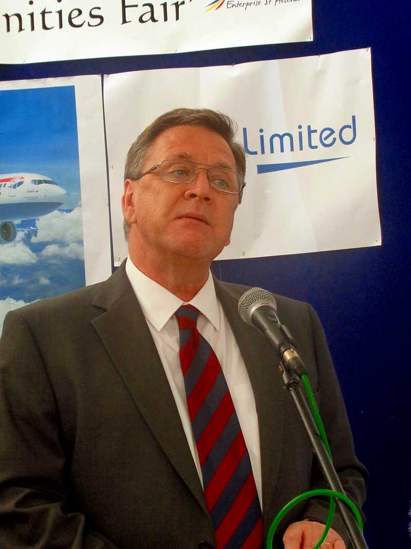 Governor Mark Capes, announcing the (original) Air Service Provider on 27th March 2015