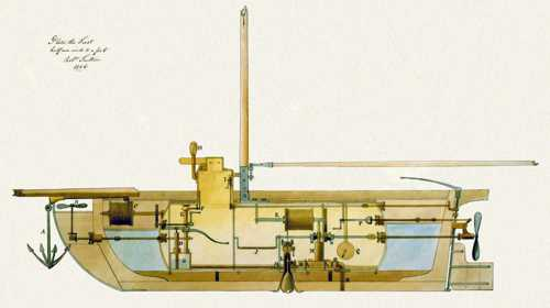 A submarine of the period that was probably the inspiration for Johnson's plans