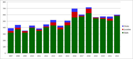 Wirebird Census results since 2007